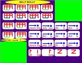 BILLY BOLLY ~ Prep/Pres/Prac Tim-ka with Inst.&Game~Smartboard