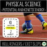 5th - 6th Grade Bell Ringers / Exit Slips - Potential and