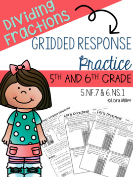 5th-6th Grade Gridded Response Bundle--Task Cards and Practice Sheets--Test Prep