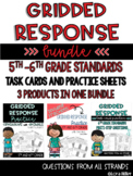 5th-6th Grade Gridded Response Bundle--Task Cards and Prac