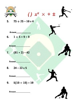 Order of Operations-MLB