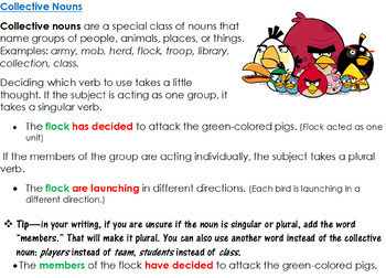 5th-6th Grades: Part 8 Subject-Verb Agreement--Google for Grammar