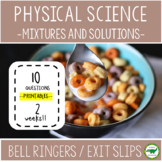 5th - 6th Grade Science Bell Ringers / Exit Slips - Mixtur