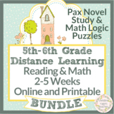 Pax and Math Logic Puzzles, Distance Learning, 5th Grade 6th Grade