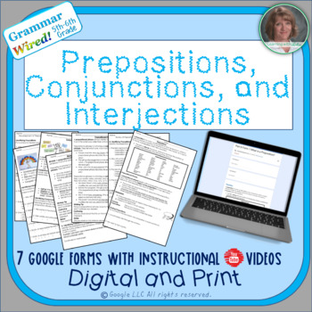 5th-6th Grades: Part 6 Prepositions, Conjunctions,Interjections-Grammar Wired!