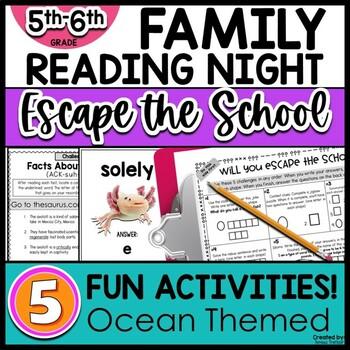 5th/6th grade Family Literacy Night Escape the School