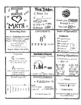 5th-7th MATH Reference Notes PDF