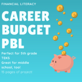 5th-8th Grade Math Career Budget Project-- PBL-- Financial Literacy