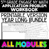 5th Grade Math Application Problems EngageNY - Printable -