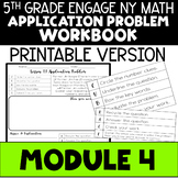 5th Application Problems - Engage NY Module 4 - Printable