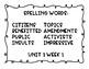 5th Benchmark Advance EQ, Spelling, Vocab