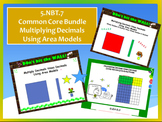 5th Common Core Math Bundle: Multiplying Decimals