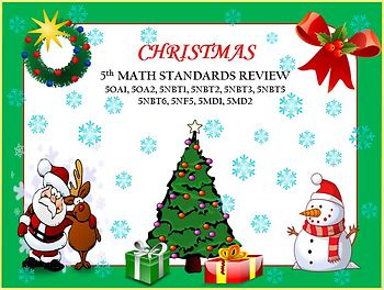 5th Common Core Math Christmas Review