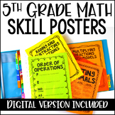 5th Grade Math Charts & Posters | Digital Version Included for Distance Learning