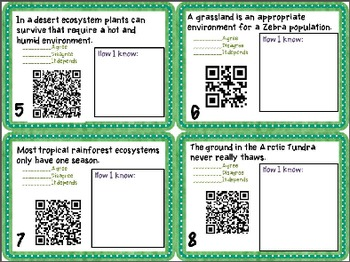 BUNDLE 5th Agree/Disagree Task Card{NC Science Essential Standard}{QR Code}