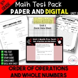 5th Grade Unit 1 Math Test Bundle {Paper/Pencil and Paperless}