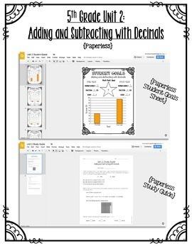 5th Grade Unit 2 Math Test Bundle {Paper/Pencil and Paperless}