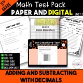 Add and Subtract Decimals Math Test Bundle {Paper and Digi