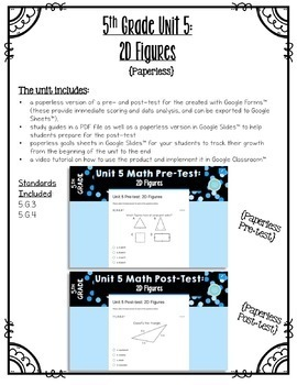 5th Grade Unit 5 Math Bundle Pack {Paper/Pencil and Paperless}