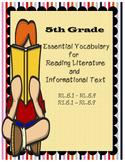 5th Common Core Vocabulary Reading Literature / Informatio