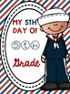5th Day of 5th Grade Poster Freebie Nautical Theme