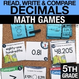 5th - Decimals - Math Games