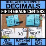 5th Grade Decimals Task Cards   5th Grade Decimals Guided Math Games