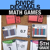 5th - Divide Decimals Math Centers - Math Games
