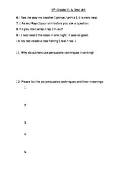 5th ELA Test
