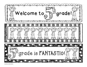 5th (Fifth) Grade Bookmarks