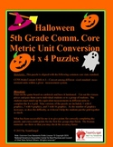 5th (Fifth) Grade Common Core- Halloween Metric Length Unit Conversion Puzzle