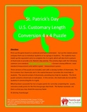 5th (Fifth) Grade Common Core-St. Patrick's Day US Customary Length Puzzle