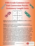 5th (Fifth) Grade Common Core - U.S. Customary Length Unit Conversion Puzzle