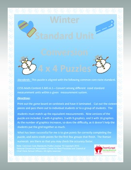 5th (Fifth) Grade Common Core- Winter Standard System Leng