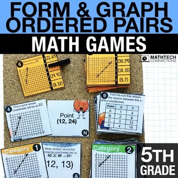 5th - Form & Graph Ordered Pairs Math Centers - Math Games