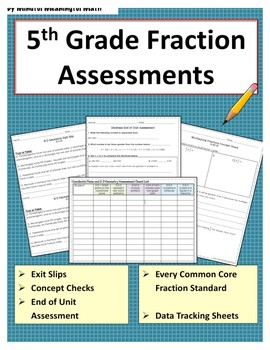 5th Grade Math Assessments - Fractions