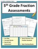 5th Grade Math Assessments - Fractions