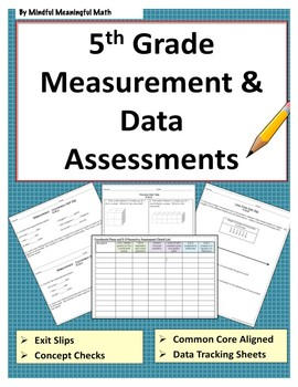 5th Grade Math Assessments - Measurement and Data