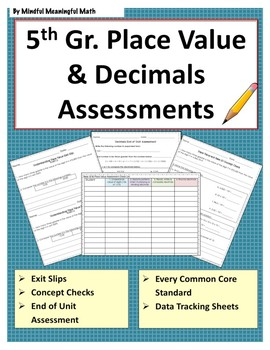 5th G Math Assessments - Place Value and Decimals