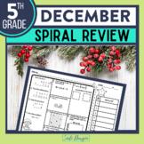 FIFTH Grade Math Homework or 5th Grade Morning Work for DECEMBER