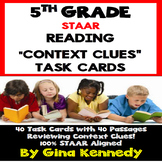 "5th Grade STAAR Reading Context Clues, 40 ""Short Passages"" Task Cards"