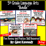 5th Grade Language Arts Bundle, Review the Standards All Year!