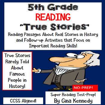 True teaching resources teachers pay teachers 5th grade reading test prep passages about true stories in history fandeluxe Image collections