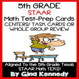 5th Grade STAAR Math Review Task Cards, Centers and Activities
