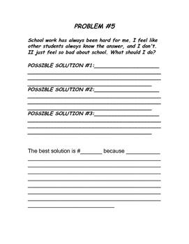 5th GRADE PROBLEM SOLVING / SOCIAL SKILLS