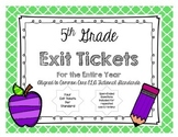 5th GRADE READING LITERATURE TEXT EXIT TICKETS