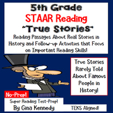 5th Grade STAAR Reading, Test-Prep Passages About True Stories in History
