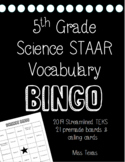 5th GRADE SCIENCE STAAR ***BINGO****