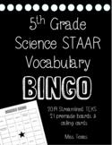 5th GRADE SCIENCE STAAR ***BINGO****