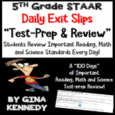 5th Grade STAAR Math, Science & Reading Daily Test-Prep Re